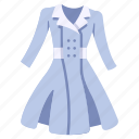 clothing, coat, dress, fashion, garment, jacket, wear icon