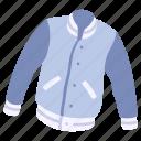 baseball, clothing, garment, jacket, sport, varsity, wear icon