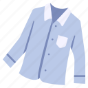 clothes, clothing, garment, long, shirt, sleeve, wear icon