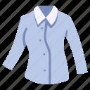 clothing, garment, long, shirt, sleeve, wear, woman icon