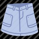 clothes, clothing, denim, garment, skirt, style, wear