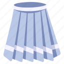 clothes, clothing, female, skirt, student, wear, woman icon