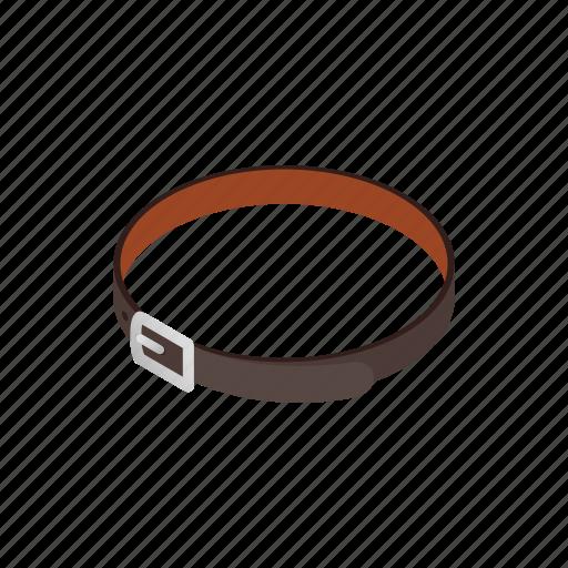 belt, buckle, business, clothing, isometric, leather, men icon