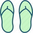 beach, casual, footwear, sandal, sandals, summer, vacation icon