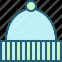 accessory, beanie, hat, head, knit, warm, winter icon
