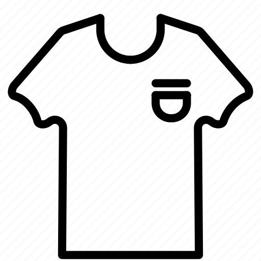 casual, hype, outline, pocket, tee, tshirt icon