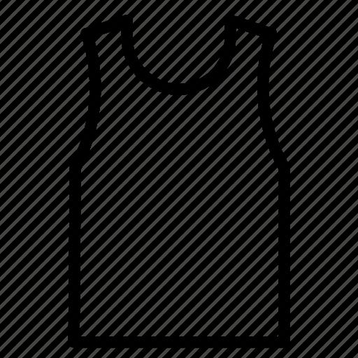 casual, hot, outline, tanktop, teeshirt icon