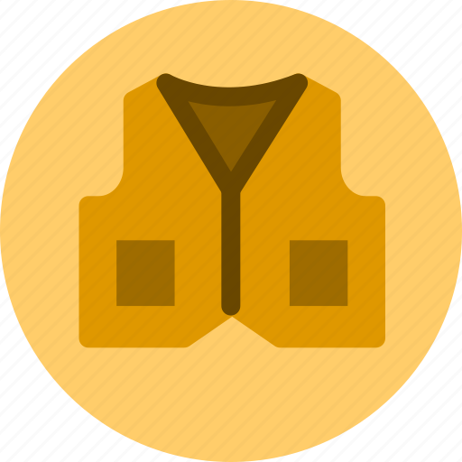 clothes, clothing, vest icon