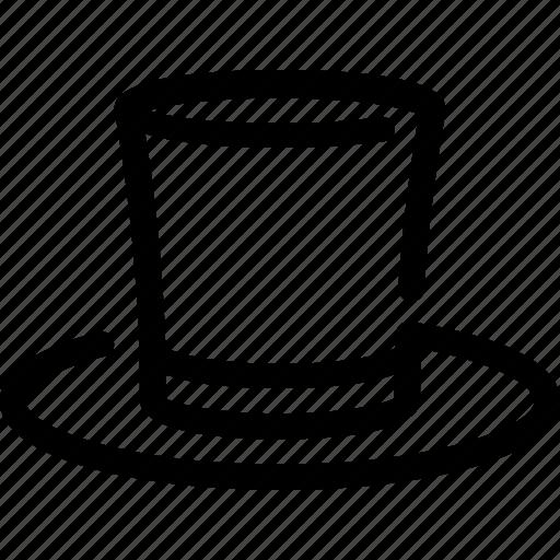 cylinder, hat, head, magic, wear icon