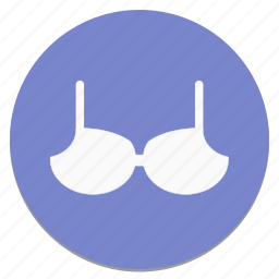 bra, circle, cloth, fashion, woman icon