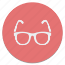 circle, glasses icon