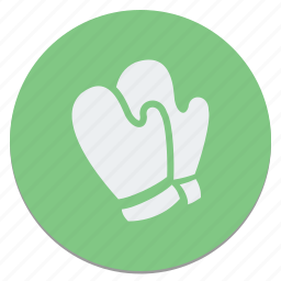 circle, gloves icon
