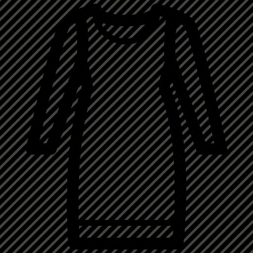 clothes, dress, jumper, ladies, trapeze, woman icon