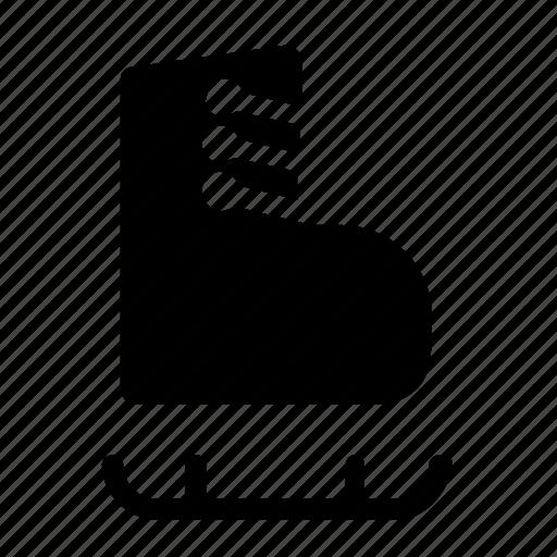 footwear, ice skate icon