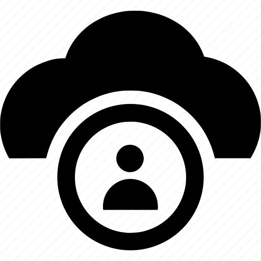 account, cloud, computing, profile, user icon