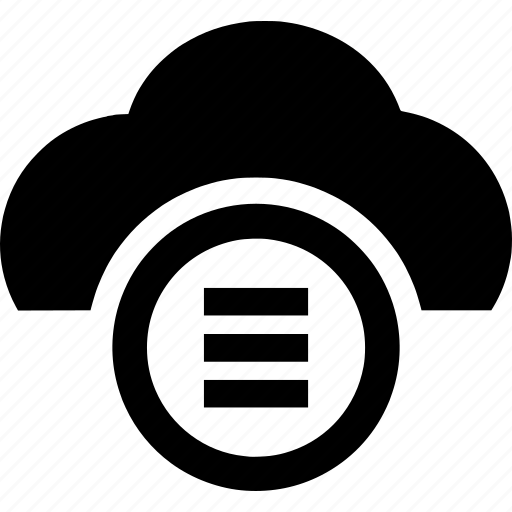 cloud, computing, hosting, menu, server icon