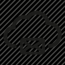 cloud, envelope, letter, mail, message icon
