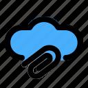 attachment, cloud, communication, data, network, storage