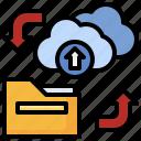 backup, network, download, settings, cloud