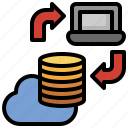 data, transfer, database, cloud, computing, server, host