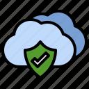 protection, cloud, computing, padlock, safety, locked