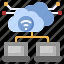 network, database, cloud, server, computing