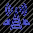 antenna, cloud, connectivity, network, signal, telecommunication icon