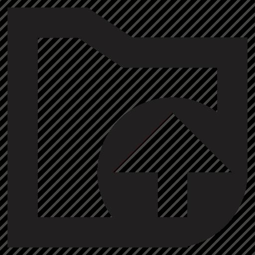 folders, upload icon