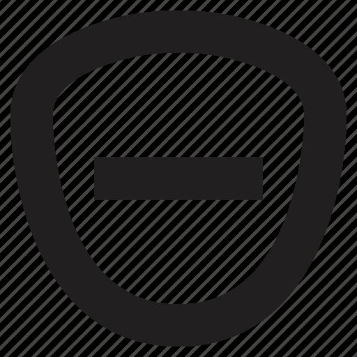protection, remove, shield icon