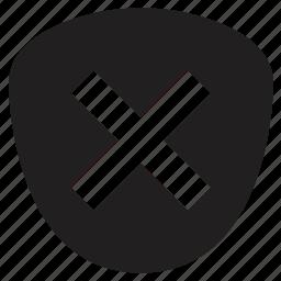 delete, protection, shield icon