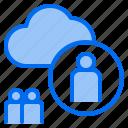 cloud, mark, rain, sunny, time, user, windy icon