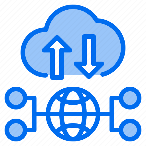 cloud, down, mark, network, sunny, up, worldwire icon