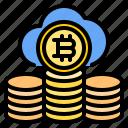 bitcoin, cloud, mark, rain, sunny, time, windy