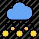 chart, cloud, mark, rain, sunny, time, windy icon