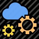 cloud, config, mark, rain, sunny, time, windy icon