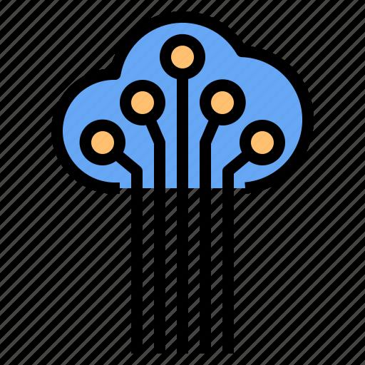 cloud, data, mark, rain, sunny, time, windy icon