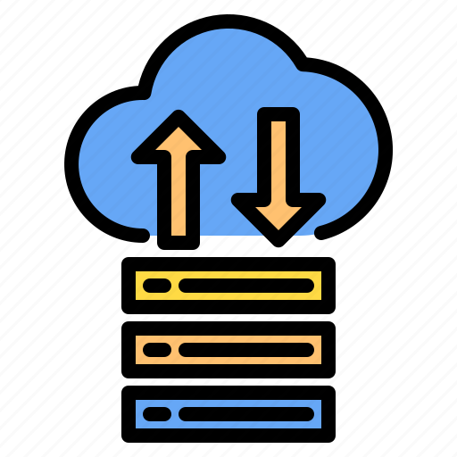 Cloud, data, down, mark, rain, sunny, up icon - Download on Iconfinder