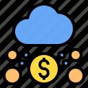 cloud, dollar, mark, rain, sunny, time, windy