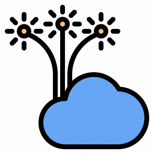 Cloud, fireworks, mark, rain, sunny, time, windy icon - Download on Iconfinder