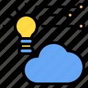cloud, idea, mark, rain, sunny, time, windy icon
