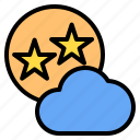 cloud, mark, rain, star, sunny, time, windy