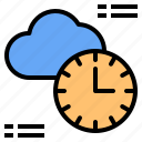 cloud, light, mark, rain, sunny, time, windy icon
