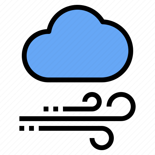 Cloud, mark, rain, sunny, time, wind, windy icon - Download on Iconfinder