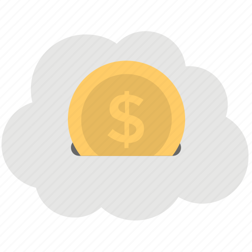 cloud business, cloud dollar, cloud price, money cloud, online banking concept icon