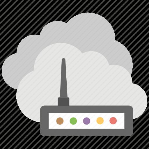 broadband wireless, cloud computing, cloud computing modem, cloud internet, cloud router icon