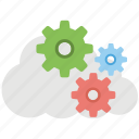 cloud application service, cloud service configure, cloud settings, cloud software service, cloud sync settings icon