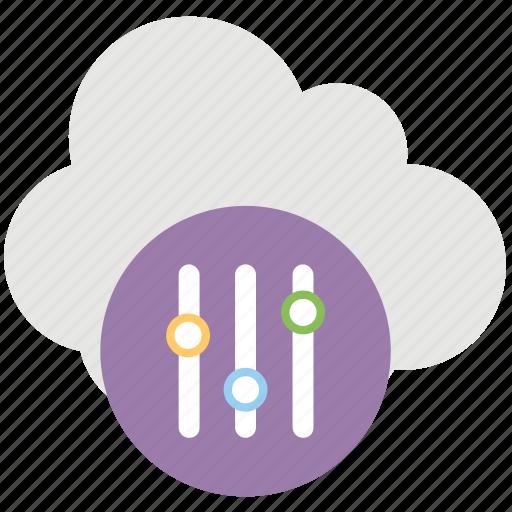 cloud application service, cloud preferences, cloud service configure, cloud settings, cloud sync settings icon