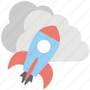 cloud computing rocket, cloud rocket, cloud technology, rocket cloud logo, web services icon
