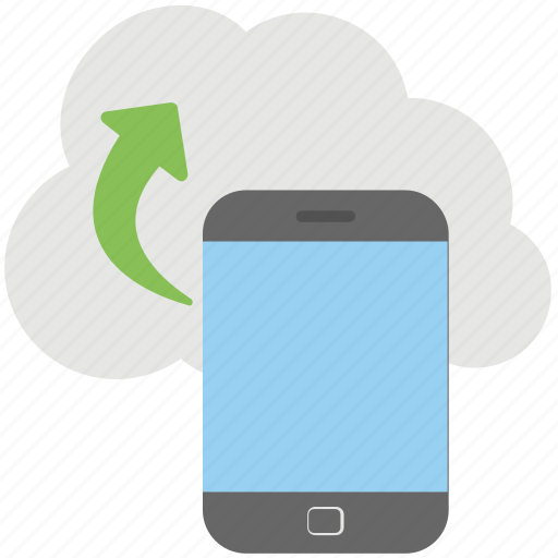 android phone, mobile cloud, mobile data transfer, mobile device cloud upload, smartphone icon