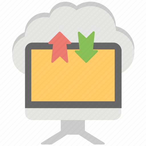 cloud arrows, cloud computing, cloud data transfer, cloud service, cloud storage icon